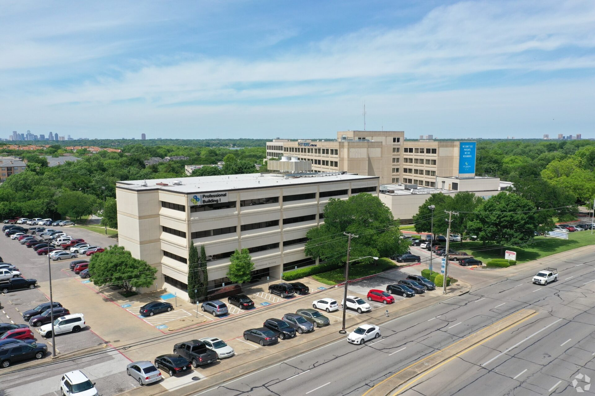 Professional Building I aerial view
