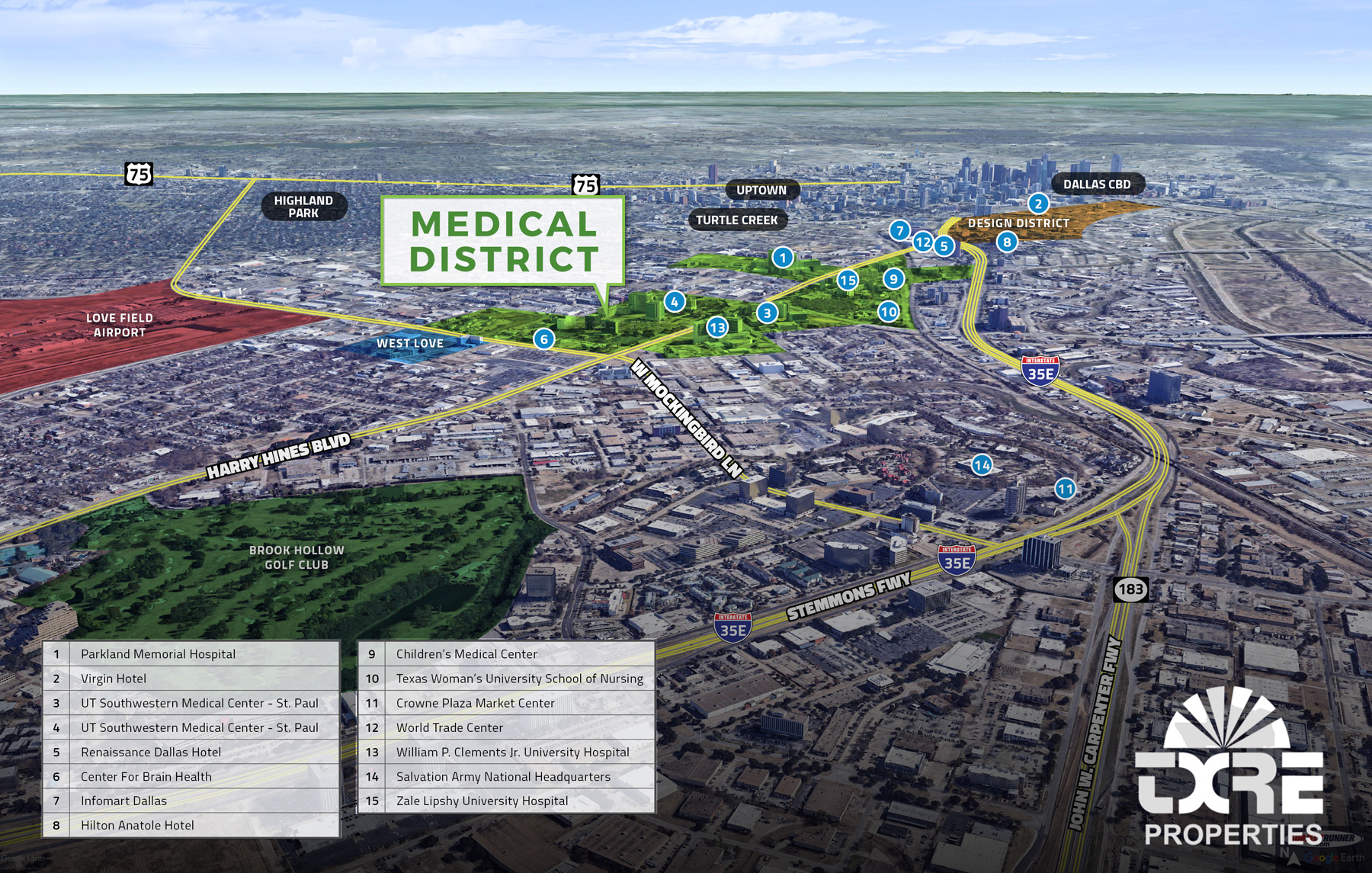 Dallas Medical District Map